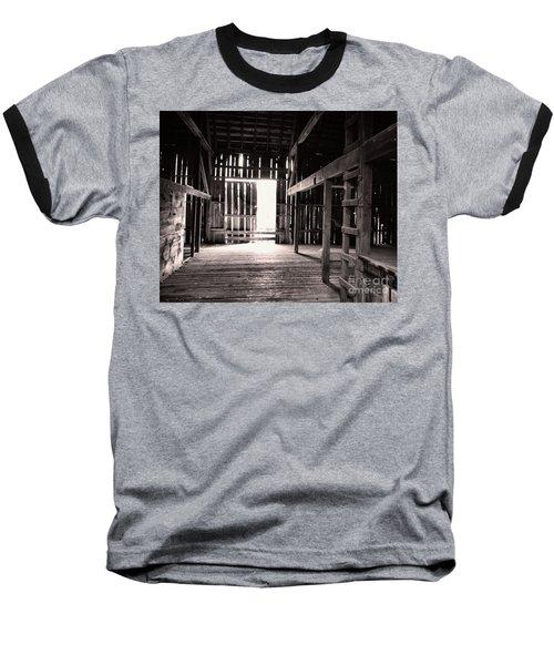 Baseball T-Shirt featuring the photograph Inside An Old Barn by John S
