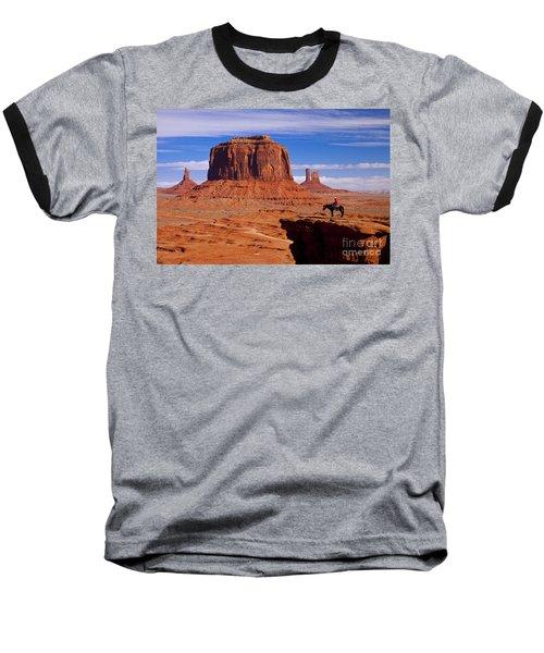 John Ford Point Monument Valley Baseball T-Shirt