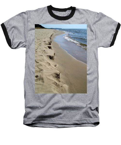 Lake Michigan Shoreline Baseball T-Shirt
