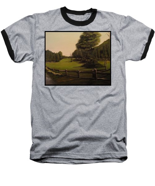 Landscape Of Duxbury Golf Course - Image Of Original Oil Painting Baseball T-Shirt