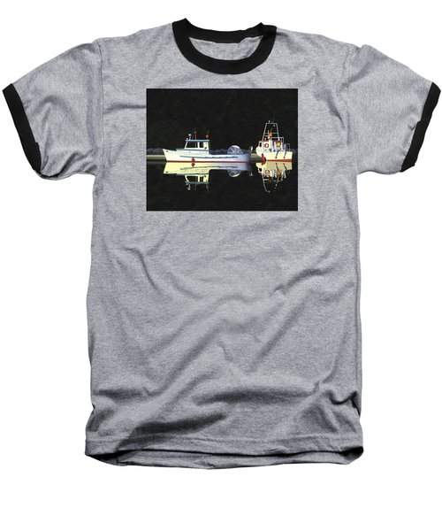 Baseball T-Shirt featuring the painting Last Light  Island Moorage by Gary Giacomelli