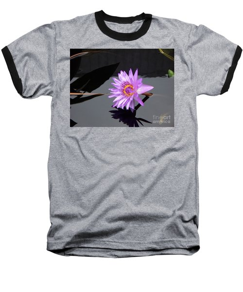 Lavender Lily Baseball T-Shirt by Eric  Schiabor