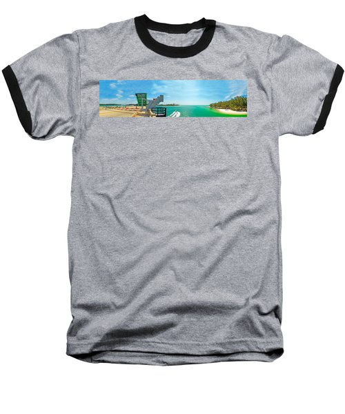 Longboat Pass Drawbridge Baseball T-Shirt