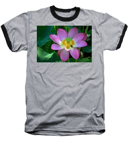 Baseball T-Shirt featuring the photograph Lotus Flower by Jerry Gammon
