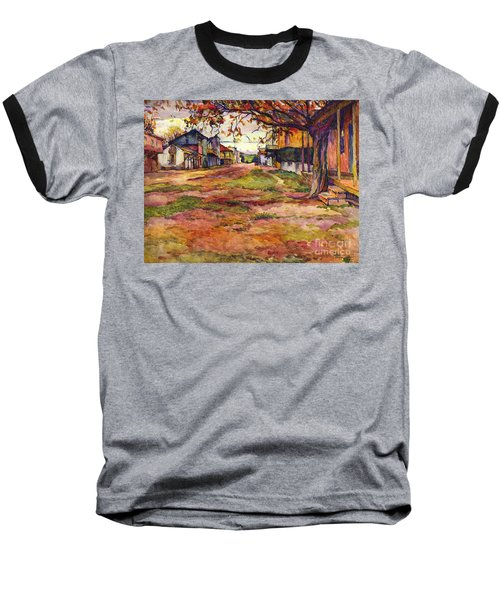 Main Street Of Early Spanish California Days San Juan Bautista Rowena M Abdy Early California Artist Baseball T-Shirt