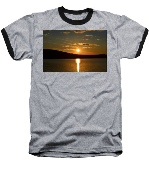 Baseball T-Shirt featuring the photograph Maine Sunset by James Petersen