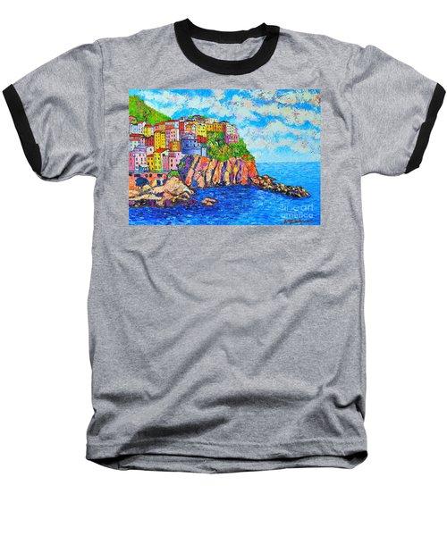 Manarola Cinque Terre Italy  Baseball T-Shirt