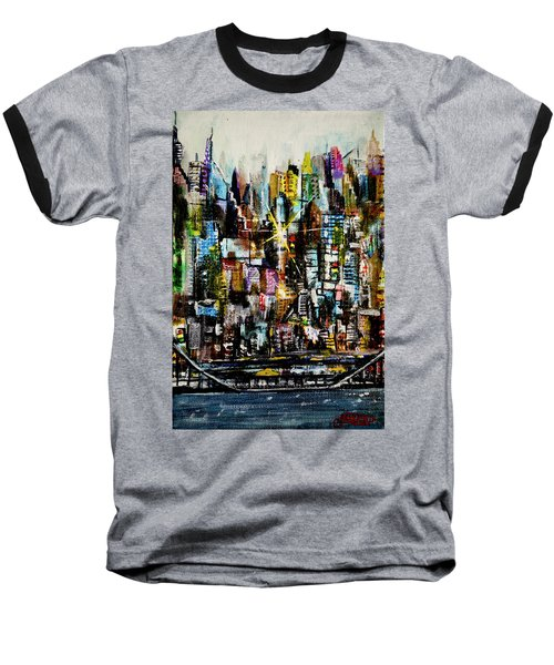 Manhattan Morning Baseball T-Shirt