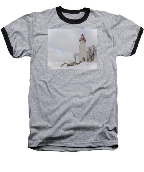 Marblehead Lighthouse Lake Erie Baseball T-Shirt