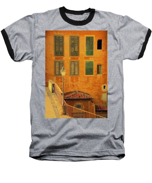 Baseball T-Shirt featuring the photograph Medieval Windows by Caroline Stella