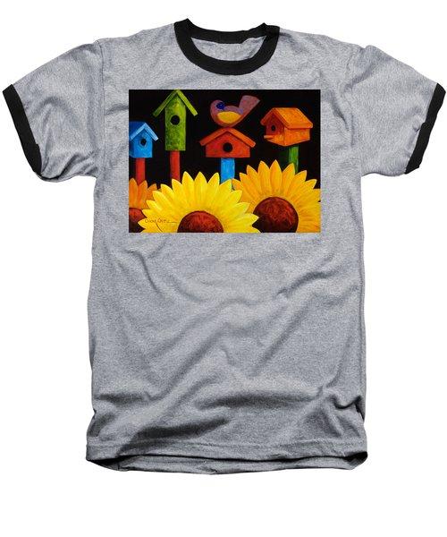 Midnight Garden Baseball T-Shirt