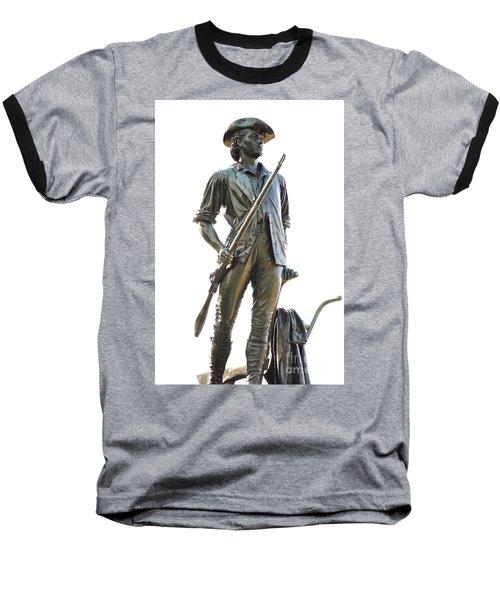 Minute Man Statue Concord Massachusetts Baseball T-Shirt