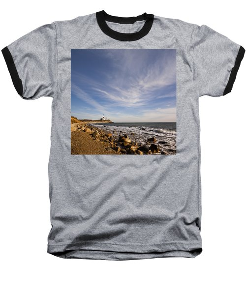 Montauk Point Lighthouse Baseball T-Shirt