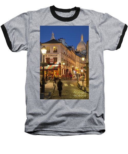 Montmartre Twilight Baseball T-Shirt