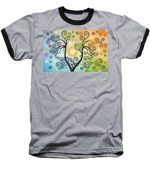 Baseball T-Shirt featuring the digital art Moon Swirl Tree by Kim Prowse