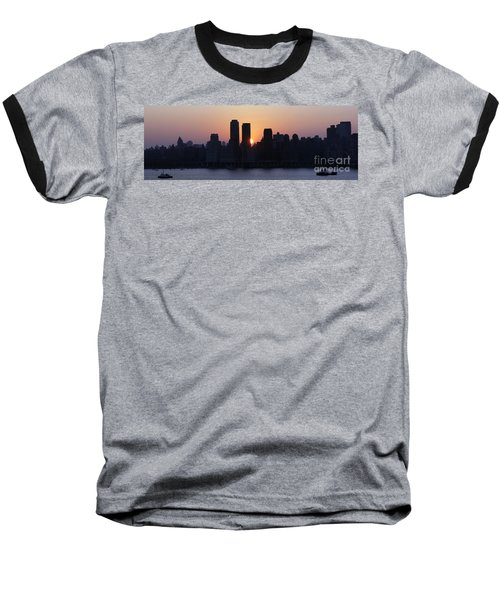 Baseball T-Shirt featuring the photograph Morning On The Hudson by Lilliana Mendez