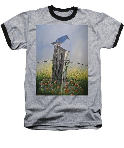 Mountain Bluebird Baseball T-Shirt