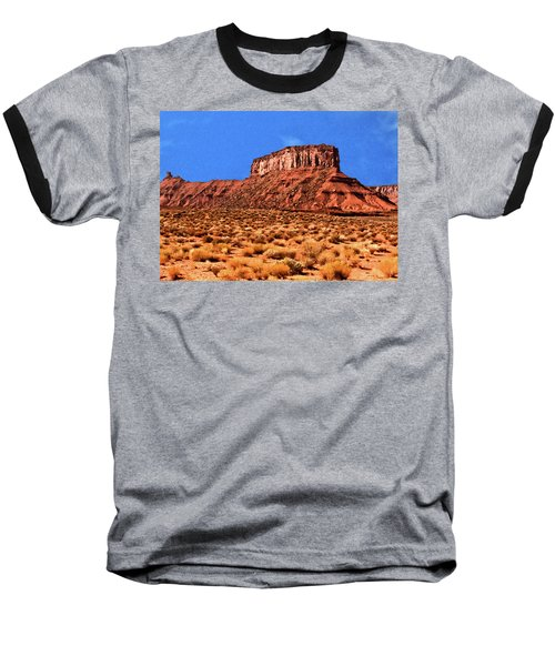 Baseball T-Shirt featuring the painting National Navajo Tribal Park by Bob and Nadine Johnston
