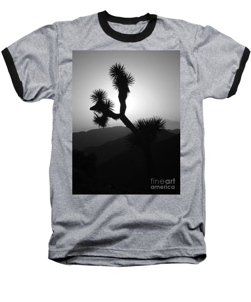 New Photographic Art Print For Sale Joshua Tree At Sunset Black And White Baseball T-Shirt