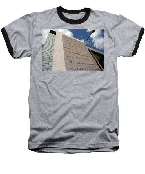 Baseball T-Shirt featuring the photograph The Newseum by Cora Wandel