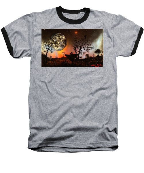 Baseball T-Shirt featuring the painting Night Of The Scarecrow  by Michael Rucker