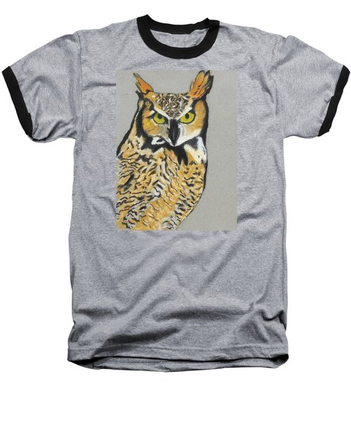 Baseball T-Shirt featuring the painting Night Owl by Jeanne Fischer