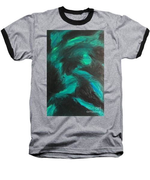 Baseball T-Shirt featuring the painting Northern Light by Jacqueline McReynolds