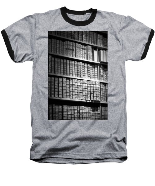 Old Books Baseball T-Shirt by Chevy Fleet