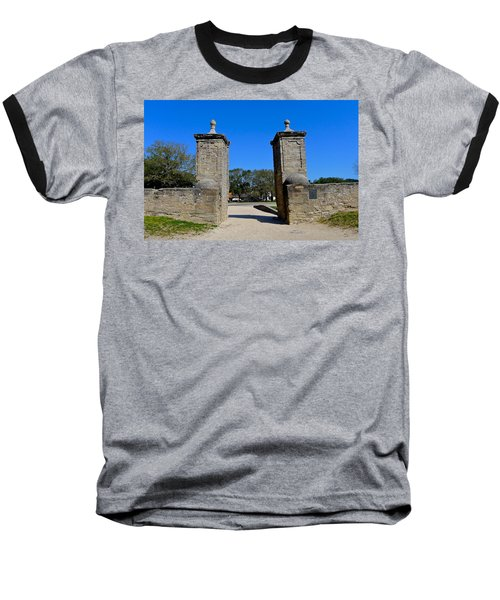 Old City Gates Of St. Augustine Baseball T-Shirt