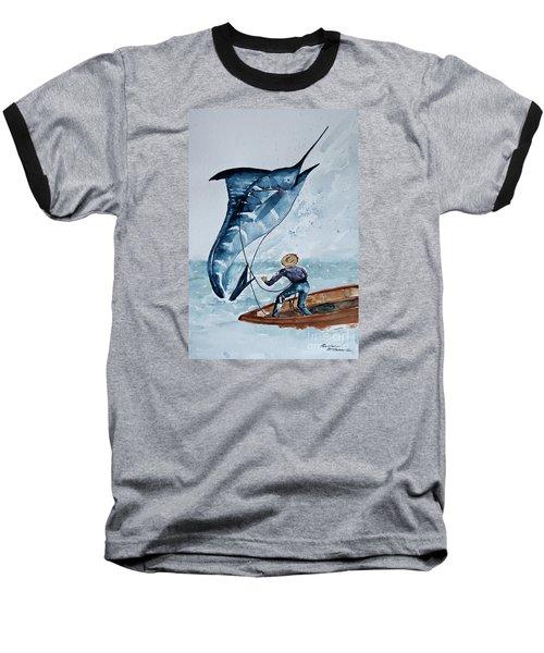 Old Man And The Sea Baseball T-Shirt by Barbara McMahon
