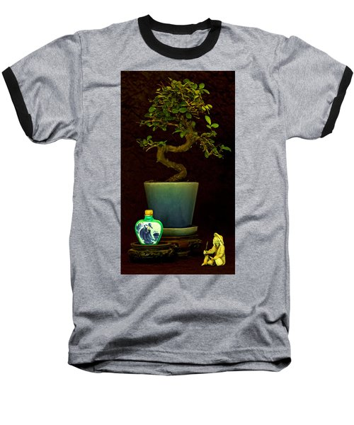 Old Man And The Tree Baseball T-Shirt