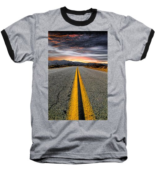 On Our Way  Baseball T-Shirt by Ryan Weddle