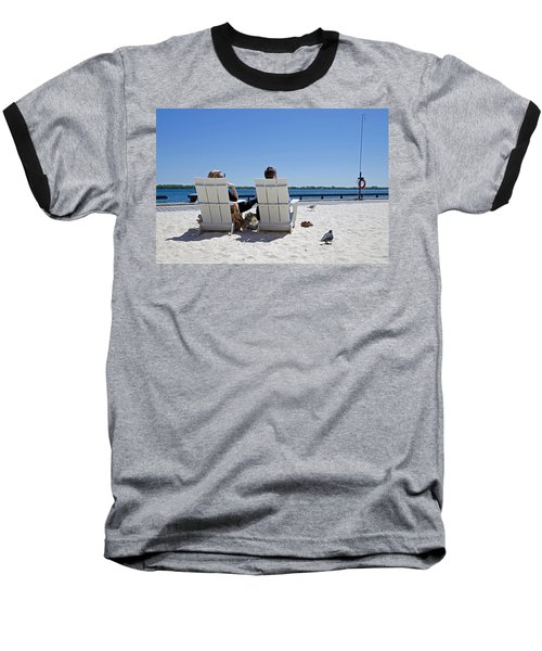 On The Waterfront Baseball T-Shirt by Keith Armstrong