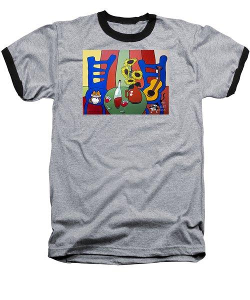 Baseball T-Shirt featuring the painting Oreo by Barbara McMahon