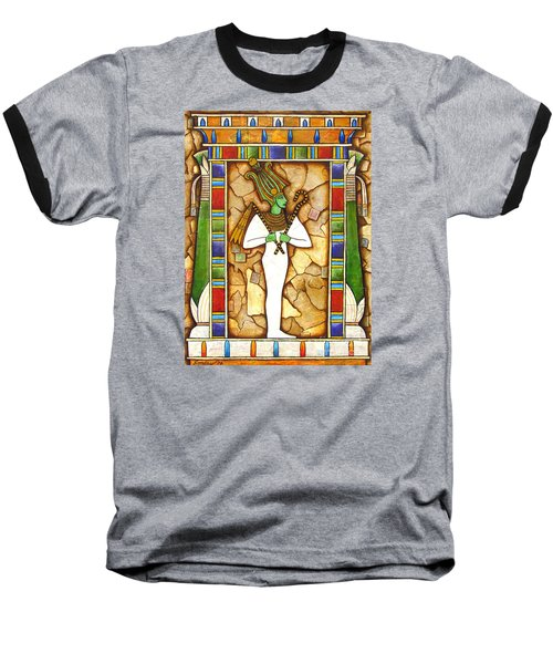 Baseball T-Shirt featuring the painting Osiris by Joseph Sonday