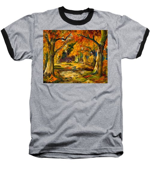 Our Place In The Woods Baseball T-Shirt by Mary Ellen Anderson