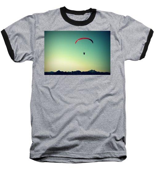 Paraglider Baseball T-Shirt by Chevy Fleet
