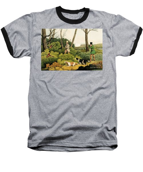 Pheasant Shooting Baseball T-Shirt by Henry Thomas Alken