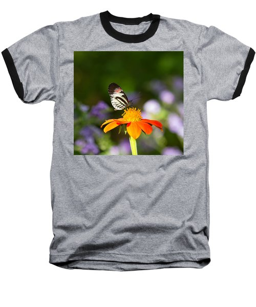 Piano Key Butterfly Baseball T-Shirt