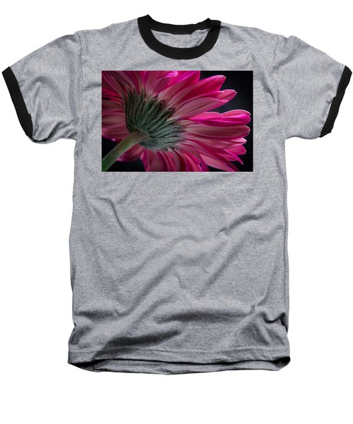 Pink Flower Baseball T-Shirt by Edgar Laureano