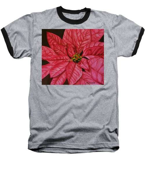 Poinsettia Baseball T-Shirt