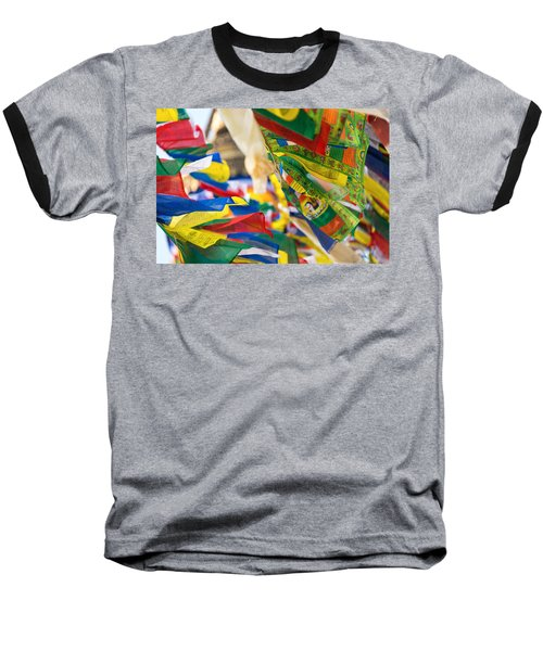 Prayer Flags Baseball T-Shirt