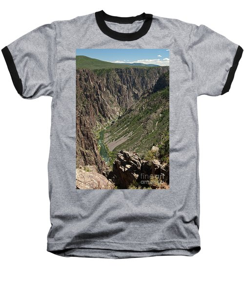 Pulpit Rock Overlook Black Canyon Of The Gunnison Baseball T-Shirt