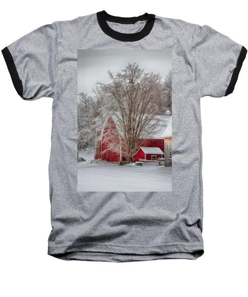 Red Vermont Barn Baseball T-Shirt