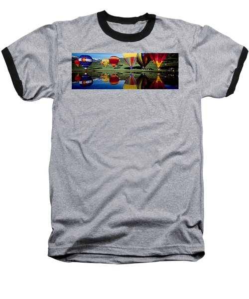 Reflection Of Hot Air Balloons Baseball T-Shirt