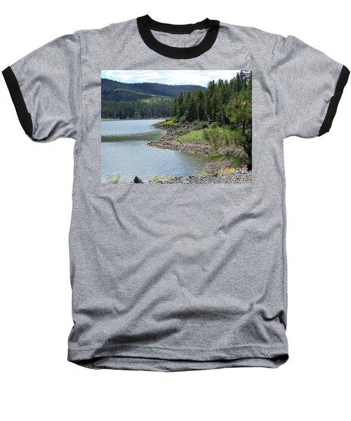 River Reservoir Baseball T-Shirt by Pamela Walrath