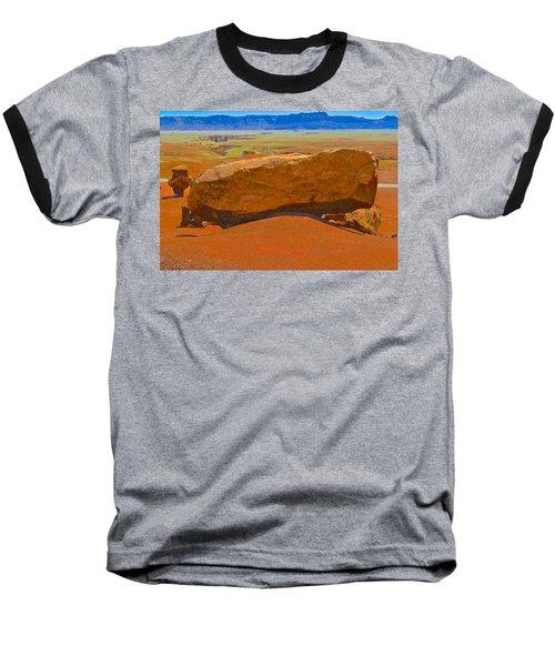 Rock Orange Baseball T-Shirt by Jim Hogg