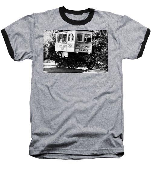 Roman Candy Baseball T-Shirt by Scott Pellegrin