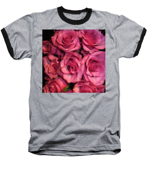 Rosebouquet In Pink Baseball T-Shirt