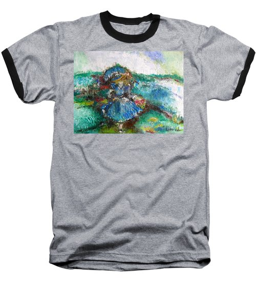 Baseball T-Shirt featuring the painting Roses For My Mother by Laurie L